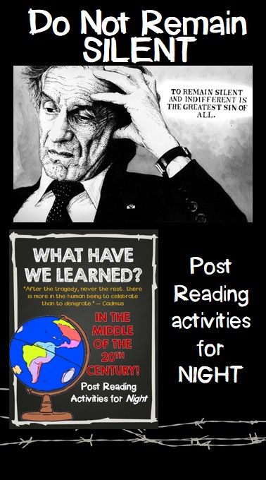 Post reading activity for Night-has the world learned?  Is there hope?