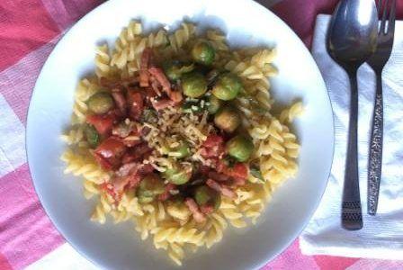 Glutenvrije pasta met vegetarische balletjes