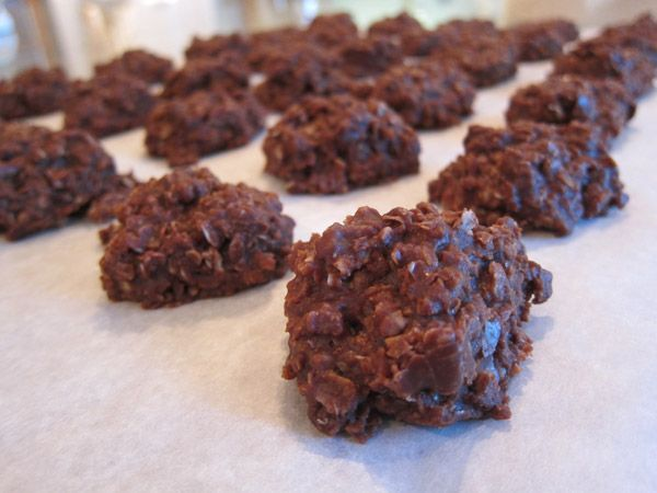 Chocolate Oatmeal No Bake Cookies | recipes | Pinterest