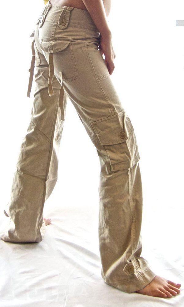 Khaki Cargo Pants Women