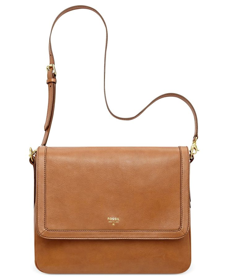 Fossil Handbag, Sydney Leather Flap Crossbody - Handbags & Accessories - Macy's
