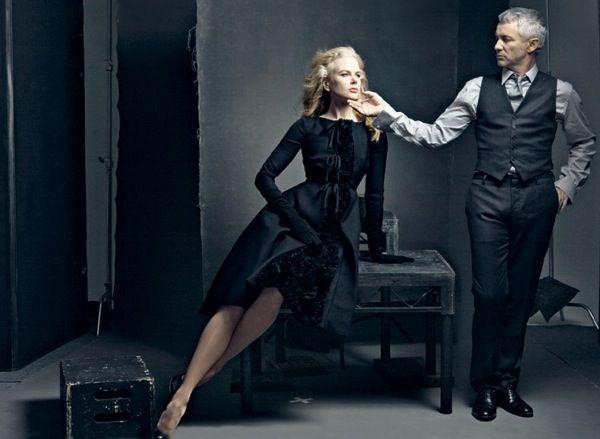 "Actor/Director Dynamics Vanity Fair | Nicole Kidman and Director, Baz Luhrmann - ""Moulin Rouge!"" and ""Australia."" | Annie Leibovitz #leibovitz"