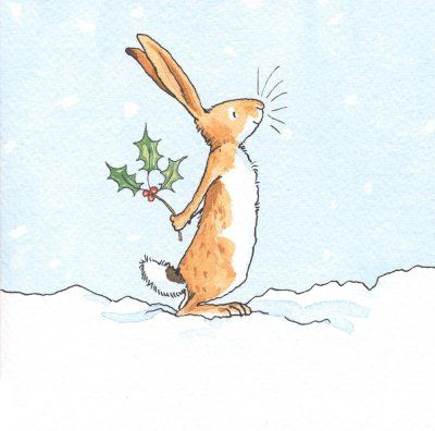 Christmas card pack - 'Holly Bunny'