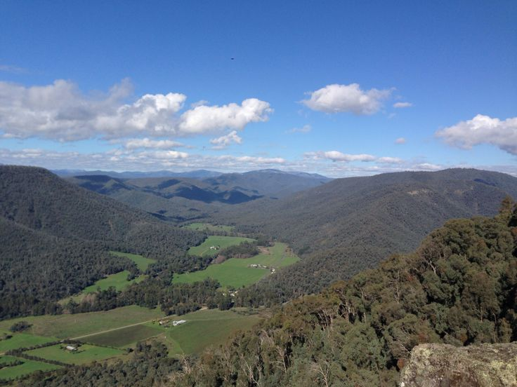 Looking over Kings Valley, High Country Australia