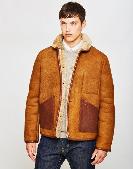 YMC Brainticket Sheepskin Coat Tan | Shop now at The Idle Man | #StyleMadeEasy