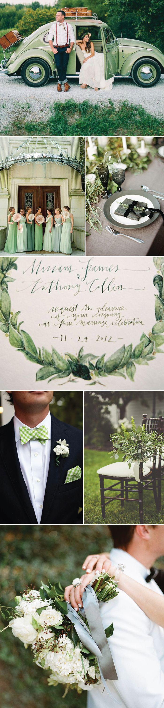 Inspiration For Green Weddings via Bows-N-Ties
