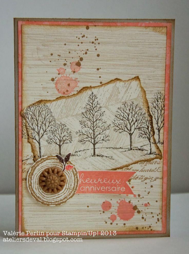 Stampin' Up! Lovely As A Tree and Gorgeous Grunge