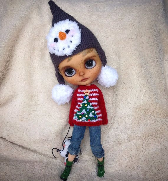 Hand knitted Christmas Tree Sweater