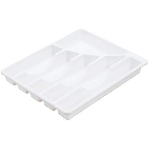 Sterilite Corp. White Cutlery Tray 15758006 Unit: Each