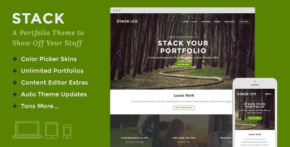 Stack 鈥?20Responsive WordPress Portfolio