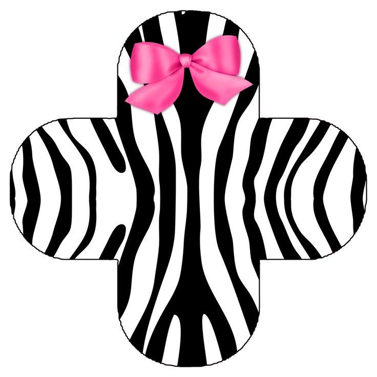 Zebra y Rosa: Imprimibles para Fiestas, Invitación y Cajas para Imprimir Gratis.