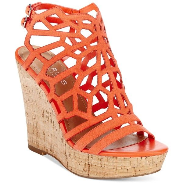 Charles by Charles David Apollo Platform Wedge Sandals ($99) ❤ liked on Polyvore featuring shoes, sandals, wedges, coral, charles by charles david, wedges shoes, wedge heel shoes, platform wedge sandals and coral wedges shoes