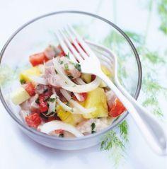 Recette : #salade à la tahitienne, #ananas, #tomates cerises, #thon, #pommes. #Picard