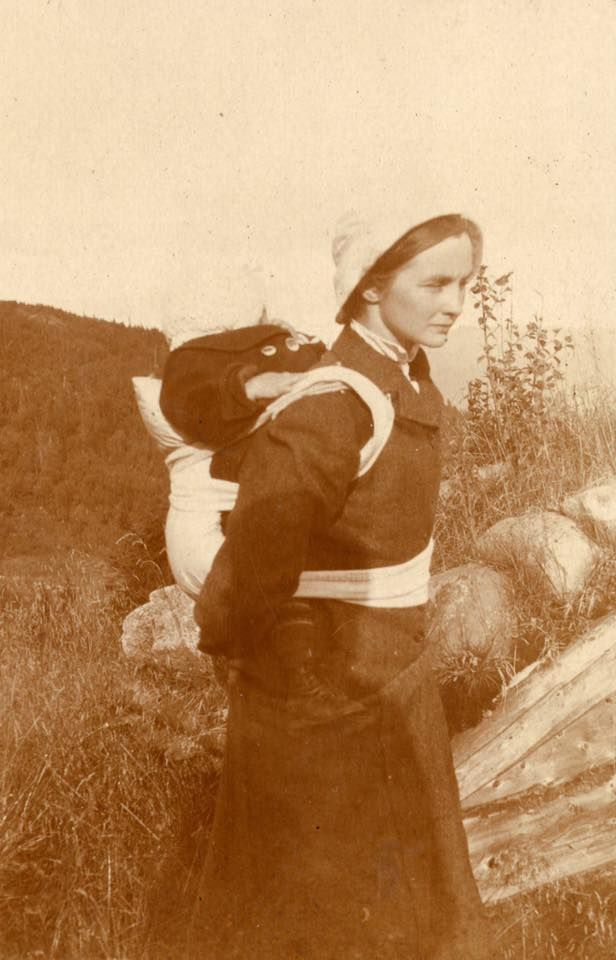 From One Of Our Our Old Family Albums Young Woman Carrying A Child