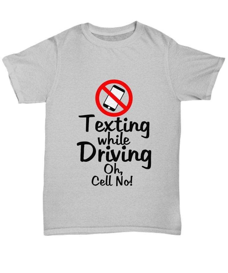 Novelty T-Shirt-Texting While Driving Oh, Cell No!-Funny Unisex Gray Top Cotton Statement by Habensengallery on Etsy