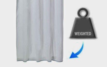 Weighted Hem Shower Curtain