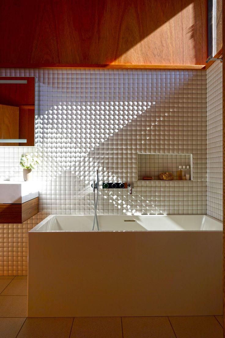 Best 25 midcentury mosaic tile ideas on pinterest scandinavian mahogany paneling ann sacks context pillow mosaic tile wetstyle cube dailygadgetfo Image collections