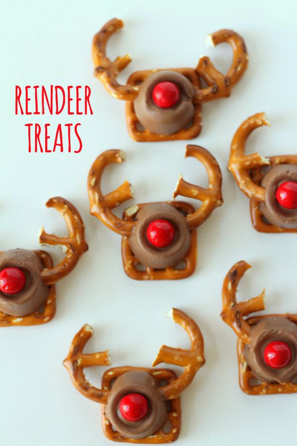 Easy and Cute Rudolph Treats - the kids would love these! Very cute.