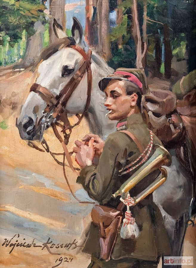 Wojciech KOSSAK ● Ułan z koniem, 1924 r. ●