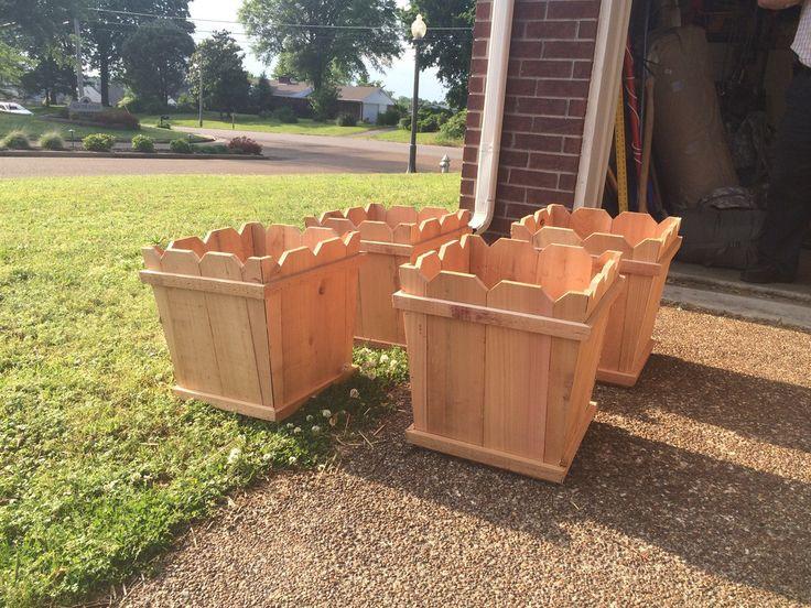 Cedar Fence Picket Planter Boxes