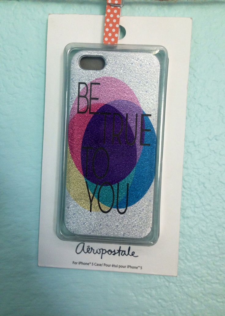 Colorful and glittery phone case
