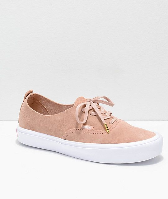 d9f316eeeaf Vans Authentic Decon Rose Suede Skate Shoes