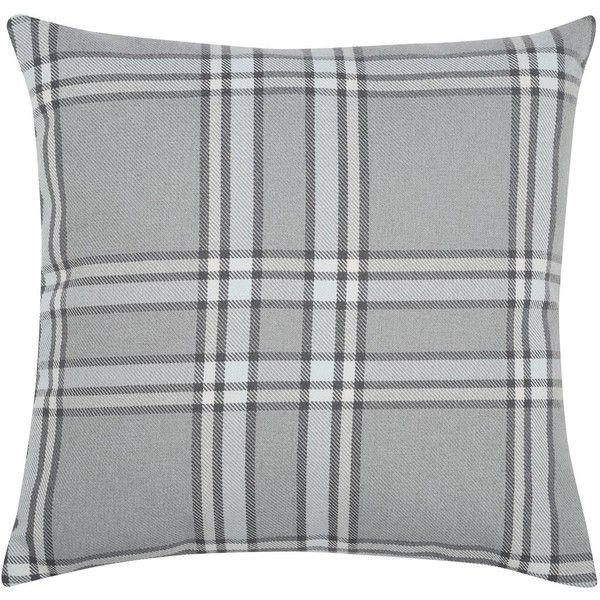 M&Co Grey Check Cushion (380 MXN) ❤ liked on Polyvore featuring home, home decor, throw pillows, grey, gray accent pillows, grey throw pillows, gray throw pillows, square throw pillows and grey toss pillows