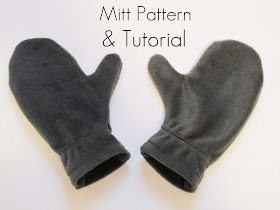 DIY kids' fleece mittens - make a few pairs out of the same material for when one disappears!