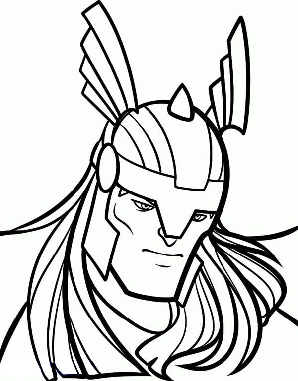 Thor Face Coloring Pages Google Search Super Heros Thor Coloring Pages