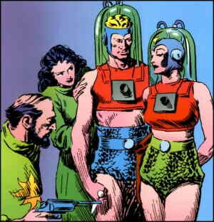 Check out Flash Gordon's chainmail shorts. It looks like he stole them from Robin, the boy wonder.