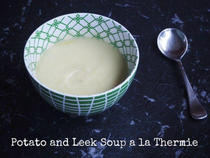 Potato and Leek Soup a la Thermie text