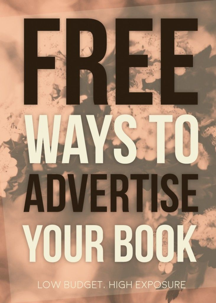 8 Ways to Advertise Your Book For Free