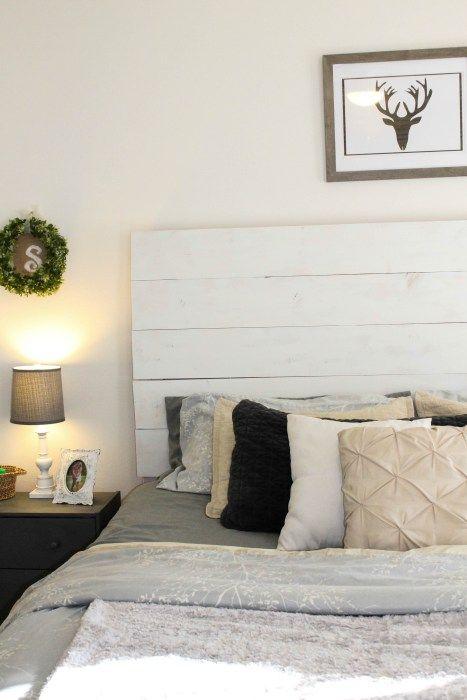 Diy Wood Slat Headboard Modest And Made Pinterest Bedroom Decor