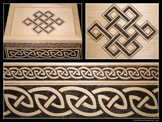 Celtic wood burnt box    Wow,, this is very cool by Alina Nisnoversh