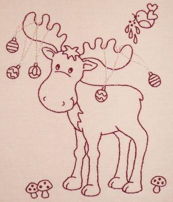 Liz Stanway woodland stitchery - eland