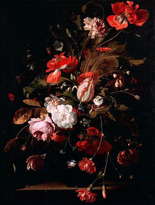 Willem van Aelst, Still-Life with Flowers, c. 1665