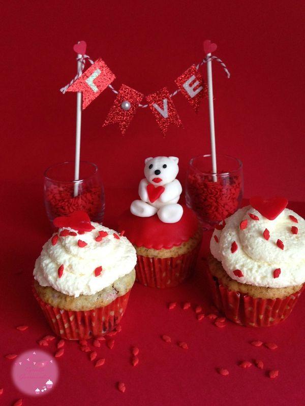 Love Cupcakes Framboise-chocolat blanc {Battle Food