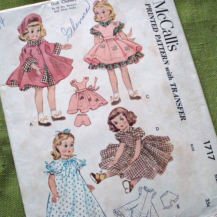 115 best vintage doll cloths patterns images on Pinterest