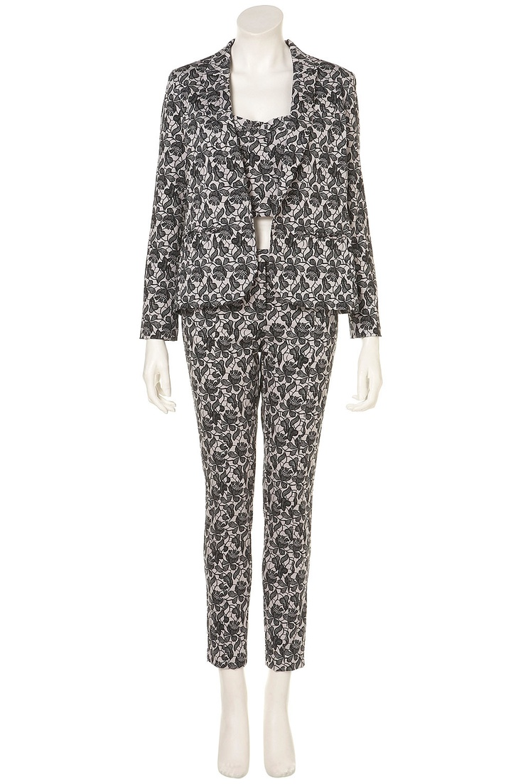 Co-ord Shadow Lace Print Blazer with Bralet and Trouser #topshop #printTopshop Prints, Topshop Fall, Topshop Topshop, Topshop Co Ord, Trousers Topshop