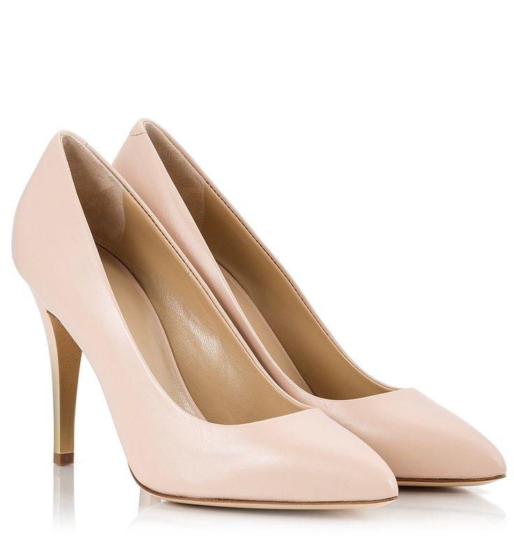 Vicini Nude leather gold-tone ombre stiletto heel pointy pumps  #ViciniShoes #GiuseppeZanotti #Pumps