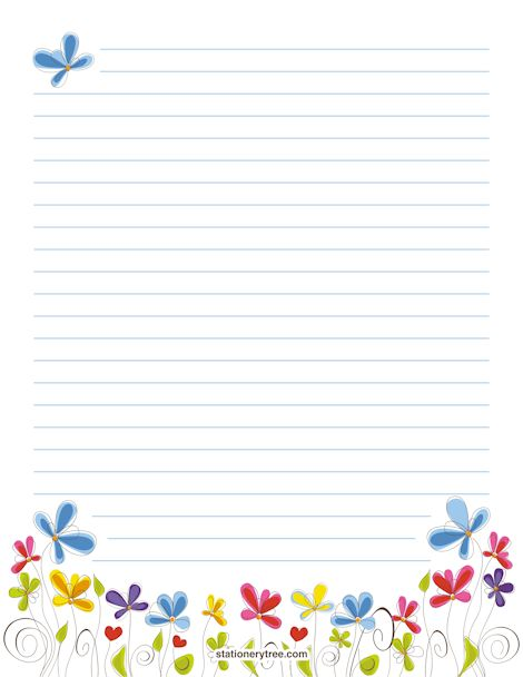 Floral Stationery and Writing Paper
