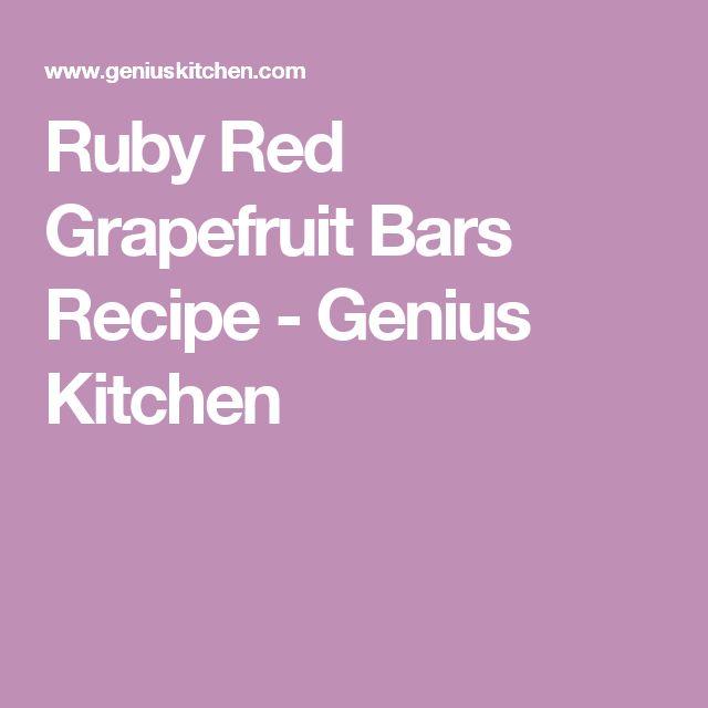 Ruby Red Grapefruit Bars Recipe - Genius Kitchen