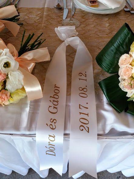 Nyomtatott esküvői szalag - Printed wedding ribbon https://goo.gl/VHGQ2V