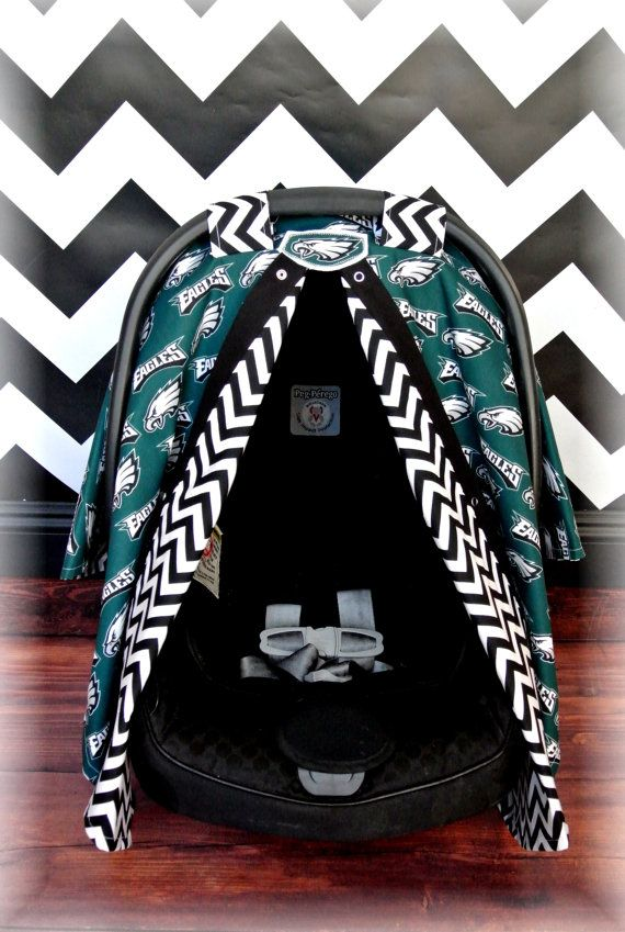 Philadelphia EAGLES car seat canopy car seat by JaydenandOlivia If we have another little one