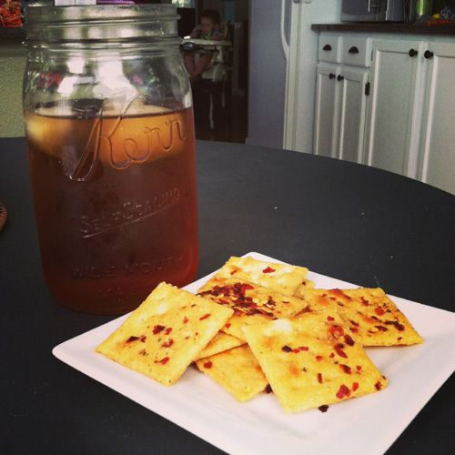 Spicy saltine crackers. A quick and easy snack!