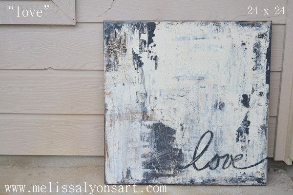 Love abstract art painting 24 x 24. $150.00, via Etsy.