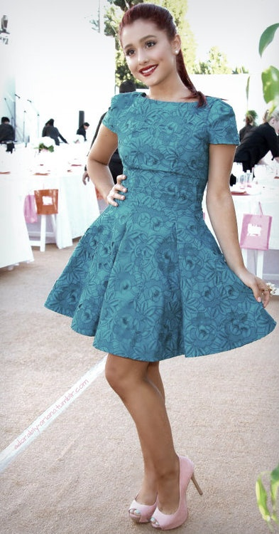 not crazy about the pattern, but the cut of the skirt is 50's all the way. I adore the way dresses fit in the 50's!