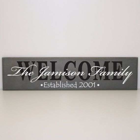 """Personalized welcome sign on 24"""" x 4.5"""" Wood Board - Personalized Sign on Etsy, $45.00"""