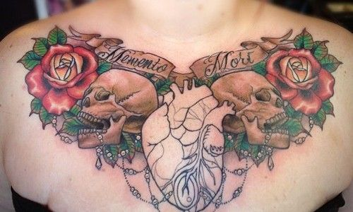 20 Glamorous Chest Tattoos for Women