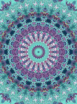 Turquoise & purple | mandala, geometric